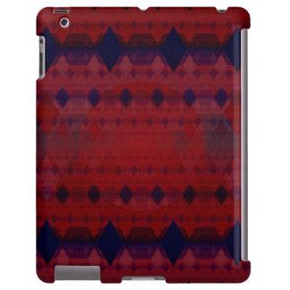 Warm Color Diamond Pattern iPad Case