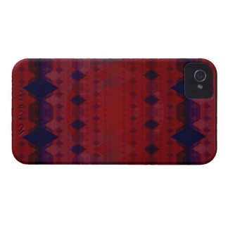 Warm Color Diamond Pattern iPhone 4 Case