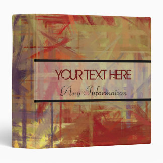 Warm Colors Abstract Art Painting 4 Binder
