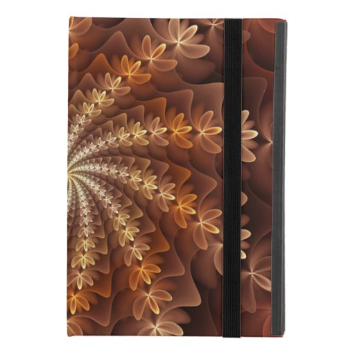 Warm Colors, Modern Abstract Fractal Art Pattern iPad Mini 4 Case
