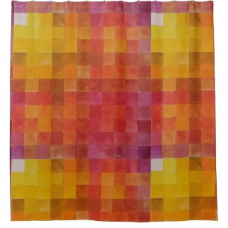 Warm Colors of Red and Yellow Shower Curtain