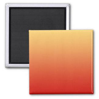 Warm colors, plain design. 2 inch square magnet