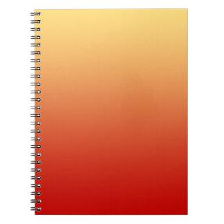 Warm colors plain design spiral note book