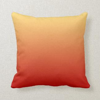 Warm colors plain design throw pillows