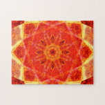 """Warm Colors   Star Shapes   Relaxing Mandala Jigsaw Puzzle<br><div class=""""desc"""">Very detailed digital mandala over a relaxing puzzle.</div>"""