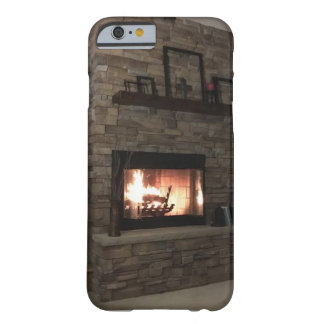 """""""Warm Cozy Fireplace"""" with a """"Romantic Fire"""" Barely There iPhone 6 Case"""