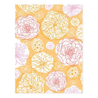 Warm Day Flowers Pattern Postcard