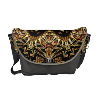 Warm Earth Art Deco Tribal Fusion Messenger Bag