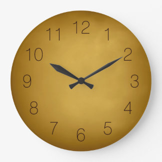 Warm Earth Colors Gold Yellow Ocher Rich Red Brown Wall Clocks
