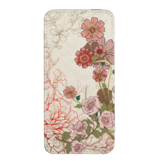 Warm Earth Tones Engraved Floral
