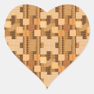 WARM energy Jewel Art Graphic Pattern GIFTS Heart Sticker