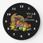 Warm Fall Blessings wall clock Clock