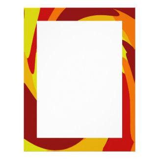 Warm Fall Colored Camo Swirl Design Letterhead