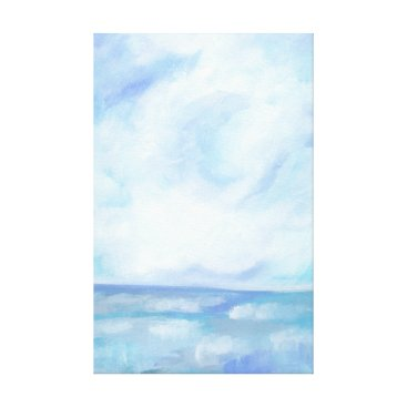 Beach Themed Warm Fall Days - Bright Ocean Painting Canvas Print