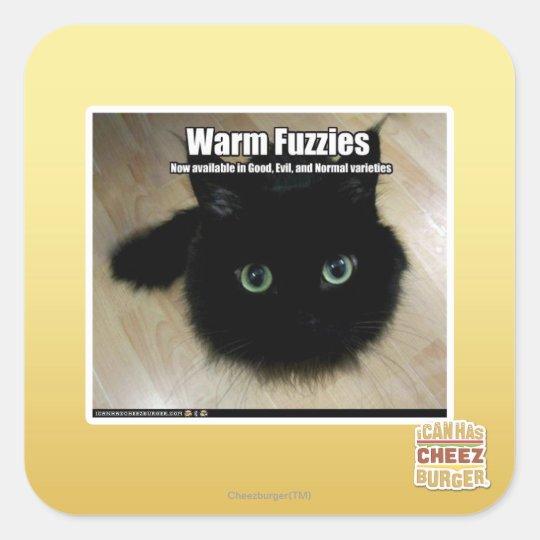 Warm Fuzzies Square Sticker