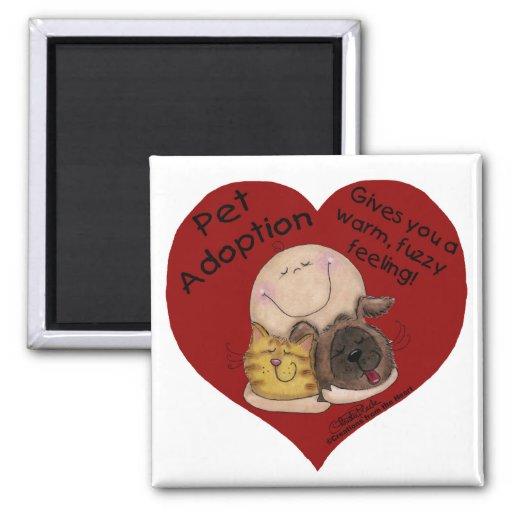Warm, Fuzzy Feeling! Heart 2 Inch Square Magnet
