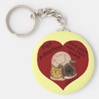 Warm, Fuzzy Feeling! Heart Basic Round Button Keychain