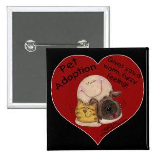 Warm, Fuzzy Feeling! Heart Pinback Button