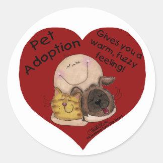 Warm, Fuzzy Feeling! Heart Stickers