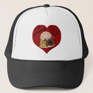 Warm, Fuzzy Feeling! Heart Trucker Hat