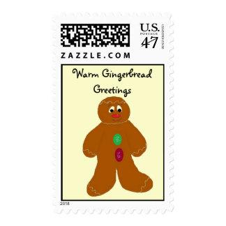 Warm Gingerbread Greetings Postage