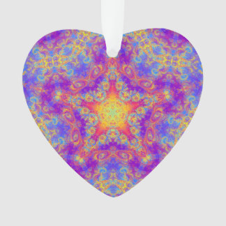 Warm Glow Star Bright Color Swirl Kaleidoscope Art