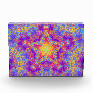 Warm Glow Star Bright Color Swirl Kaleidoscope Art Acrylic Award