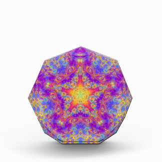 Warm Glow Star Bright Color Swirl Kaleidoscope Art Award