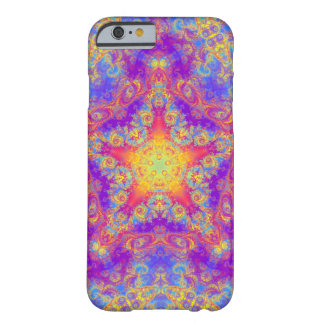 Warm Glow Star Bright Color Swirl Kaleidoscope Art Barely There iPhone 6 Case