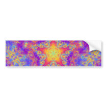 Warm Glow Star Bright Color Swirl Kaleidoscope Art Bumper Sticker