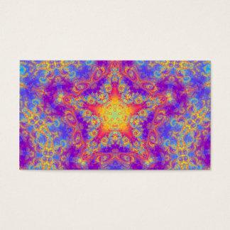 Warm Glow Star Bright Color Swirl Kaleidoscope Art Business Card