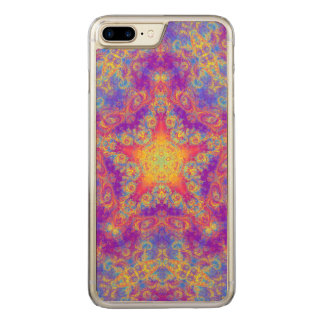 Warm Glow Star Bright Color Swirl Kaleidoscope Art Carved iPhone 7 Plus Case