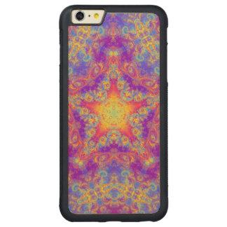 Warm Glow Star Bright Color Swirl Kaleidoscope Art Carved® Maple iPhone 6 Plus Bumper
