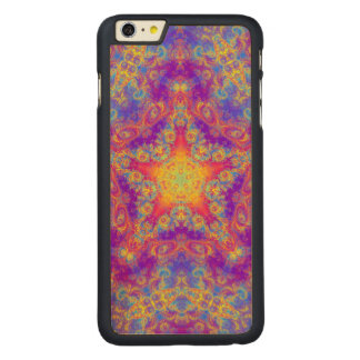 Warm Glow Star Bright Color Swirl Kaleidoscope Art Carved® Maple iPhone 6 Plus Case
