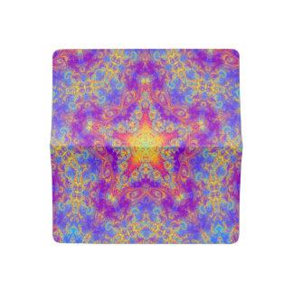Warm Glow Star Bright Color Swirl Kaleidoscope Art Checkbook Cover