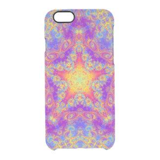 Warm Glow Star Bright Color Swirl Kaleidoscope Art Clear iPhone 6/6S Case