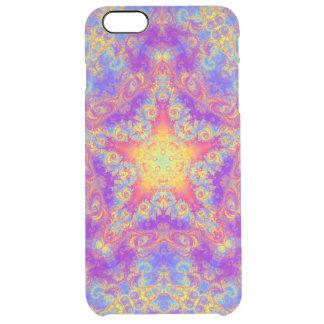 Warm Glow Star Bright Color Swirl Kaleidoscope Art Clear iPhone 6 Plus Case
