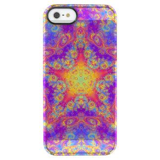 Warm Glow Star Bright Color Swirl Kaleidoscope Art Clear iPhone SE/5/5s Case