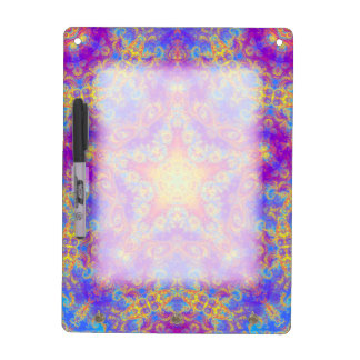 Warm Glow Star Bright Color Swirl Kaleidoscope Art Dry Erase Board