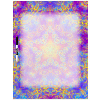 Warm Glow Star Bright Color Swirl Kaleidoscope Art Dry-Erase Board