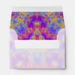 Warm Glow Star Bright Color Swirl Kaleidoscope Art Envelope