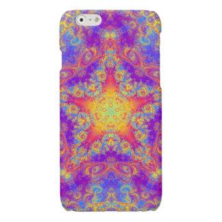 Warm Glow Star Bright Color Swirl Kaleidoscope Art Glossy iPhone 6 Case