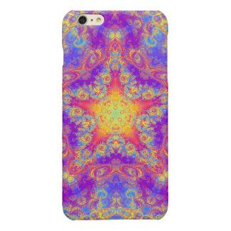 Warm Glow Star Bright Color Swirl Kaleidoscope Art Glossy iPhone 6 Plus Case