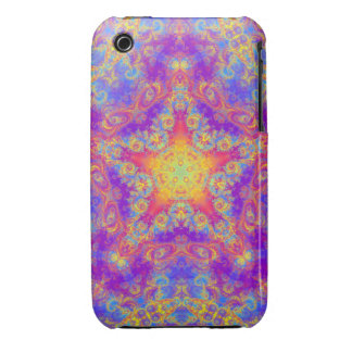Warm Glow Star Bright Color Swirl Kaleidoscope Art iPhone 3 Cover