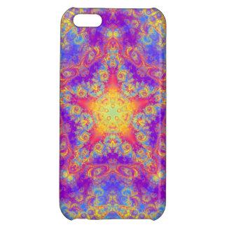 Warm Glow Star Bright Color Swirl Kaleidoscope Art iPhone 5C Cover
