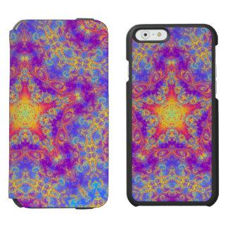 Warm Glow Star Bright Color Swirl Kaleidoscope Art iPhone 6/6s Wallet Case