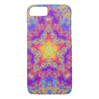 Warm Glow Star Bright Color Swirl Kaleidoscope Art iPhone 7 Case