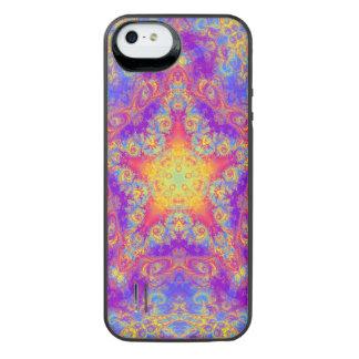 Warm Glow Star Bright Color Swirl Kaleidoscope Art iPhone SE/5/5s Battery Case