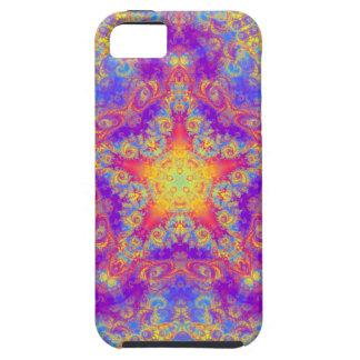Warm Glow Star Bright Color Swirl Kaleidoscope Art iPhone SE/5/5s Case