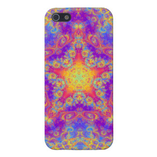 Warm Glow Star Bright Color Swirl Kaleidoscope Art iPhone SE/5/5s Cover